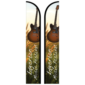 12' double sided custom portable half drop banners