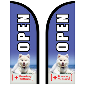 6' Double Sided Custom Portable Half Drop Banners