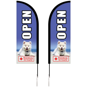 6' Double Sided Portable Half Drop Banner w/ Hardware Set