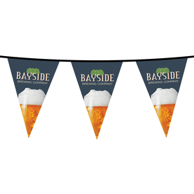 15' pvc triangular pennant string