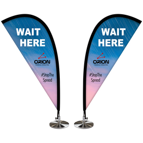 Double Sided Mini Desktop Teardrop Banner
