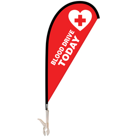 mini teardrop banner with clip