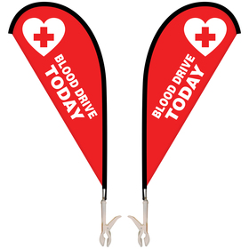 double sided mini teardrop banner with clip