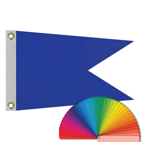 "12"" x 18"" solid color swallowtail flag w/ heading & grommets"
