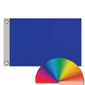 "12"" x 18"" solid color flags with heading & grommets"