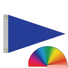 "12"" x 18"" solid color pennants with heading & grommets"