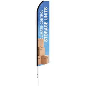 12' digitally printed custom swooper banner kit with 15' swooper pole
