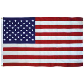 2.5' x 4' tough tex u.s. flag with heading and grommets