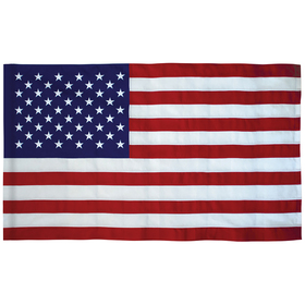 2.5' x 4' tough tex u.s. flag with pole sleeve
