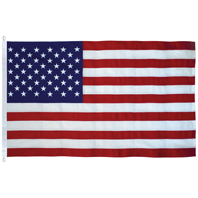 10' x 15' tough tex u.s. flag with rope and thimble