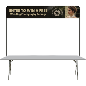 8' table top hardware & small banner kit