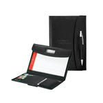 "truevalue faux leather tri-fold 5"" x 8"" junior padfolio"