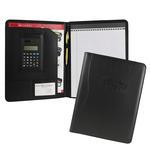 "classic faux leather 8.5"" x 11"" calculator padfolio"