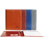 "pro designer pu leather 8.5"" x 11"" padfolio"