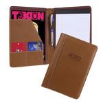 "marin italian pu leather 5"" x 8"" junior padfolio tan"