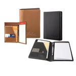 "concord premium leather 5"" x 8"" junior padfolio"