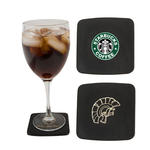 atlantis leather square coaster