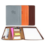 "marin pu leather 8.5"" x 11"" zippered portfolio"
