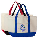 islandlife 12oz natural cotton tote w/ velcro closure