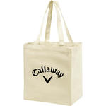 "islandlife 9 oz 8"" gusset natural cotton shopping tote"