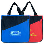 two-toned expandable poly tote bag