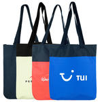 two-toned poly tote bag