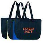 poly zippered tote bag w/ heavy vinyl backing