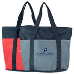 two-toned wide mouth tote bag
