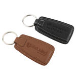 concord leather rectangular keytag
