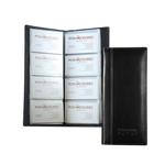 Atlantis Leather 4-Row Business Card File Case
