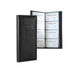 Signature Leather 4-Row Business Card File Case