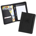 "pro designer pu leather 5"" x 8"" junior zippered portfolio"