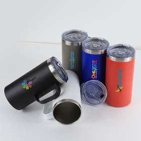 summit 20oz double wall vacuum insulated stainless steel campfire mug