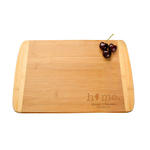 "oceanside 2-tone 8"" x 5.75"" bamboo cutting and serving board"