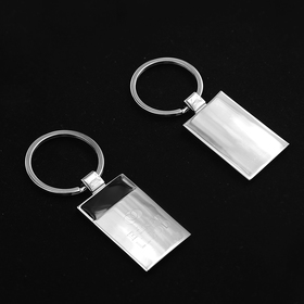 concord rectangular metal key chain