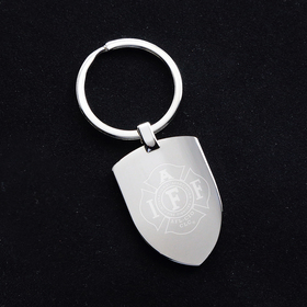 inspire shield shaped metal key chain