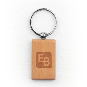 oceanside rectangular wood key chain