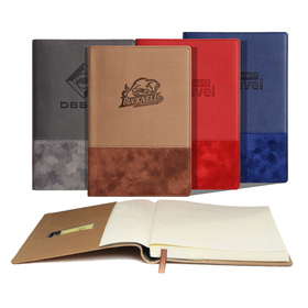 "iposh pu leather 5""w x 8""h 192 pages journal book"