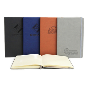 "pro designer pebble grain pu leather 5""w x 8""h 192 pages journal book"