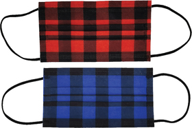 3-ply plaid disposable face mask