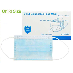 child size 3-ply face mask