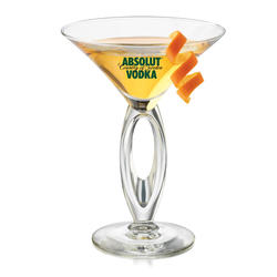 "The ""With a Twist' Martini Glass"