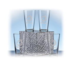 The Etched Mixing Glass - Gift Box Set - 4pc