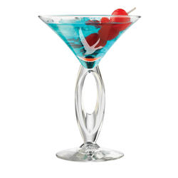 """The """"With a Twist' ETCHED Martini Glass"""