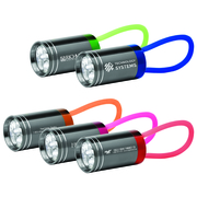 6-LED Metal Flashlight with Silicone Strap