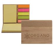 Bamboo Sticky Notepad - Laser