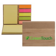 Bamboo Sticky Notepad - ColorJet