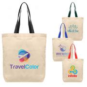 Tonga - 5 oz Natural Cotton Tote w/ Color Straps - ColorJet