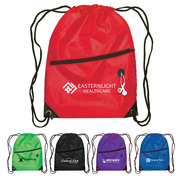 Daypack - Drawstring Backpack - 210D Polyester