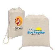 Java - 5 oz Natural Cotton Drawstring Backpack - ColorJet